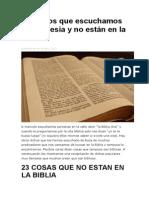 23 Dichos Que Escuchamos en La Iglesia y No Están en La Biblia