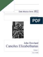 DOWLAND John Songs for Voice and Guitar Vol 1a Transc Fraga Voce e Chitarra