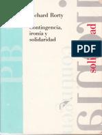 Rorty, Richard - Contingencia, IronÃ-A y Solidaridad - Introduccion