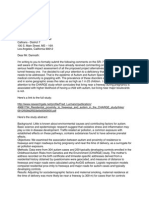 Dr. M. Khubesrian SR-710 N Study Comment Letter, Autism