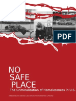 No Safe Place a Homeless Document