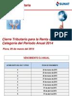 05 03 2015 Cierre Tributario 2014