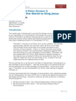 Sermon 3 - Reconciling the World to King Jesus - Col 1~19 Ff