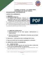 Informe de Geologia Informe de Salida de Campo a La Zona de Karkatera y