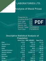 Ranbaxy Laboratories Ltd. Statistical Analysis of Stock