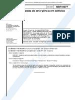 Norma Brasileira 9077 - Saidas de Emergencia Em Edificios