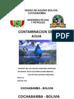 Informe Sobre La Contaminacion Del Agua