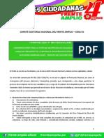COMUNICADO N° 002-CENAFA-2015