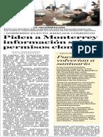 Piden a Monterrey información sobre permisos clonados