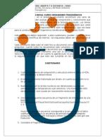 Evaluacion Inicial Curso Ot Ava 2015 II