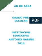 Plan de Area Preescolar 2014