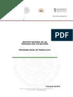 Programa Anual de Trabajo 2014 INAPAM