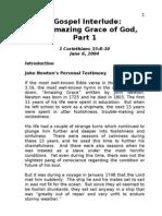 A Gospel Interlude - Amazing Grace of God Part 1 - 1 Corinthians 15~9