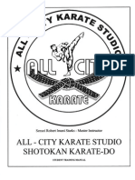 Dojo Training Manual Shotokan Karate
