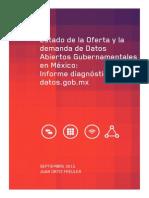 Estado de la Oferta y la Demanda de Datos del portal gubernamental Mexicano
