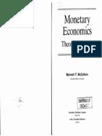 Bennett T. McCallum Monetary Economics