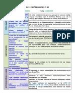 Reflexión y Autoevaluación Módulo III