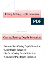 Casing Setting Depth Selection