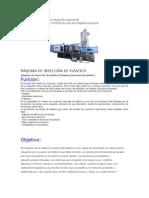 Ficha Técnica de Una Maquina Inyectora