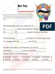 Chinese New Year Worksheet with Answer Key Cloze
