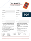 Chinese New Year Word Matchup Worksheets