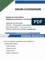 CPT303-2.1-Noções de Informática-Sistemas Numéricos e Conversão de Base