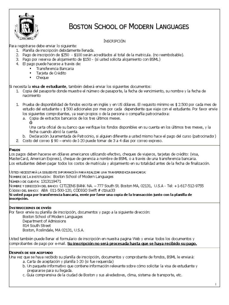 Application Form Spanish