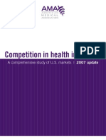 2007 American Medical Association Study Examining Competition in Health Care