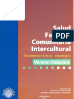 Salud Familiar Comunitaria Intercultural Documento técnico-estratégico Versión Didáctica
