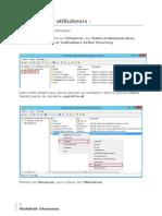Création des utilisateurs et des groupes sous Windows Server 2012