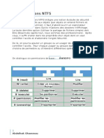 Les persmission NTFS Windows Server 2012
