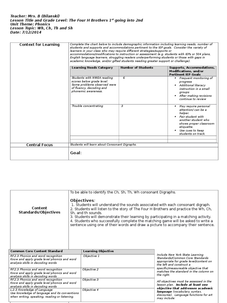 Iep Planning Accommodations Modifications Smart Kids >> Phonics Lesson Alana 2 Phonics Educational Assessment