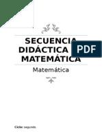 Secuencia Didáctica Matemática 6º Scribid