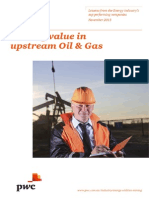 2013 Driving Value in Upstream Oil and Gas