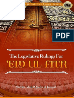 The Legislative Rulings for Eid Ul Fitr Shaykh Abdulqaadir Al Junayd