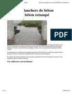 Murs et planchers de béton décoratif