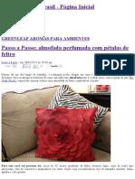 Passo a Passo_ Almofada Perfumada Com Pétalas de Feltro - Blog Greenleaf Brasil