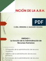 I. La Funcion de La ARH