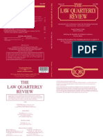 The Law Quarterly Review July 2008, vol 124