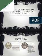 Principales Diferencias de La Constitución de 1886 y 1991