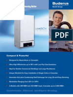 Buderus Logalax Plus GB162/80 and GB162/100 High Efficiency Modulating Gas Fired Boiler  Brochure