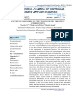 A Review on Various Drug Delivery Devices for the Treatment of Periodontitis