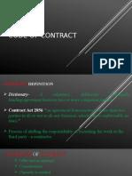 Contract Tender