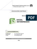 Excel 2010 Intermedio