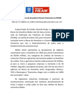 Governo e Banco Da Amazônia Firmam Protocolo