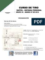 CURSO TIRO III  programación