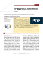 Preparation and Characterization of PVDF-TiO2 Composite Membranes Blended with Different Mw of PVP for Oily Wastewater Treatment using Submerged Membrane System