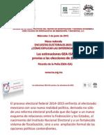 Las estimaciones previas a las elecciones 2015