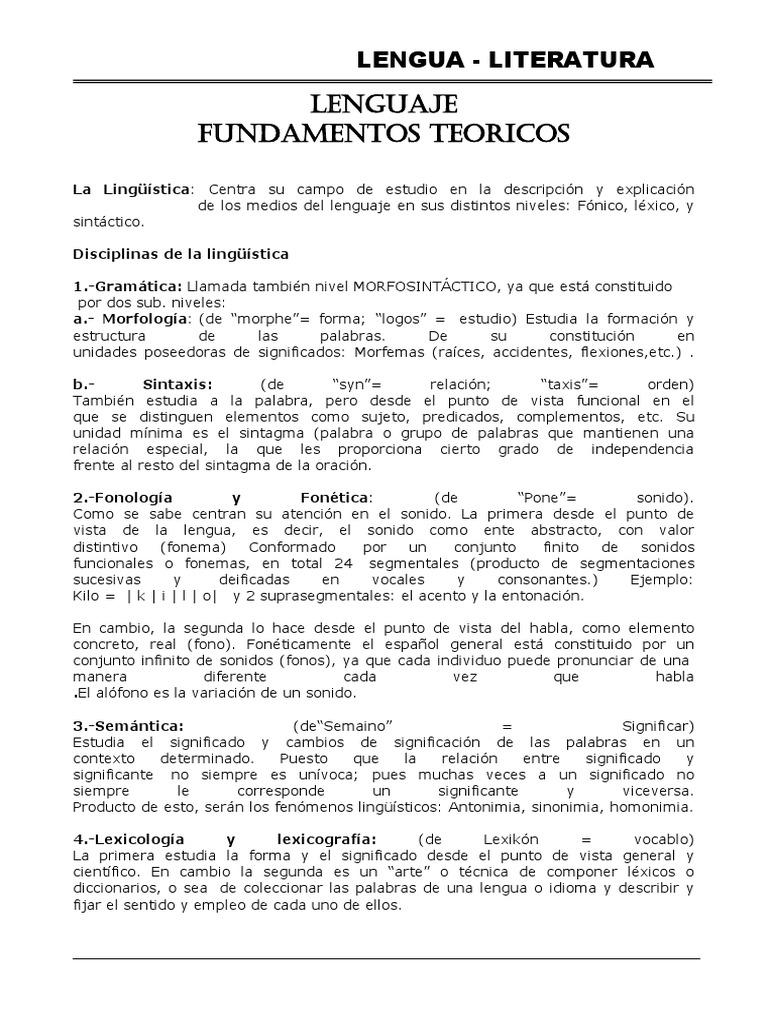 Encantador Reanudar Niveles De Lenguaje Adorno - Colección De ...