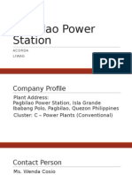 ME180 Preliminary Report Pagbilao Power Station